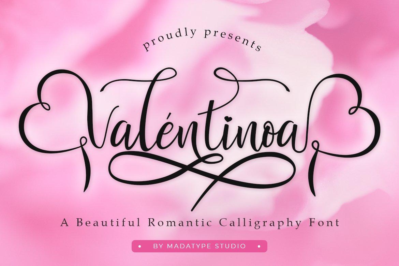 Valentinoa | A Romantic Calligraphy Font example image 1