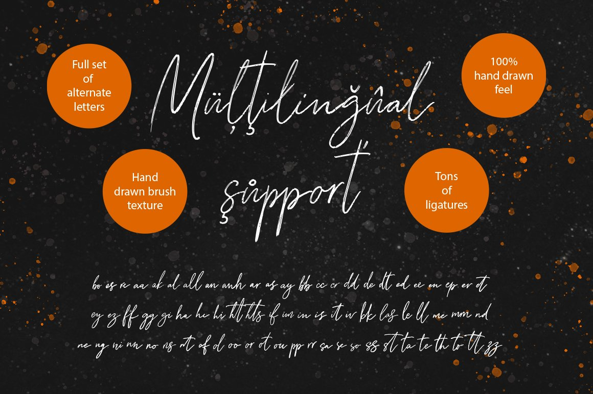 Knights Inn. Textured signature brush font. example image 10