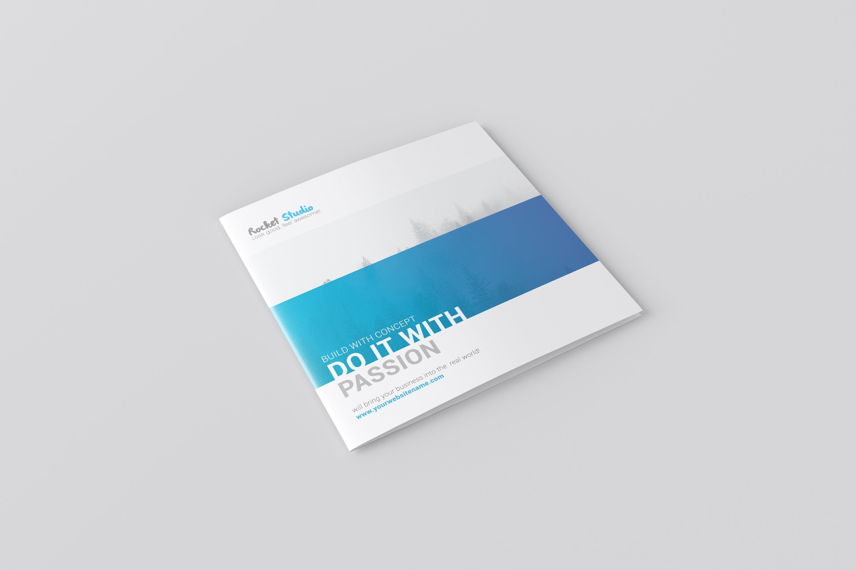Square Bi-fold Brochure Mockup example image 2