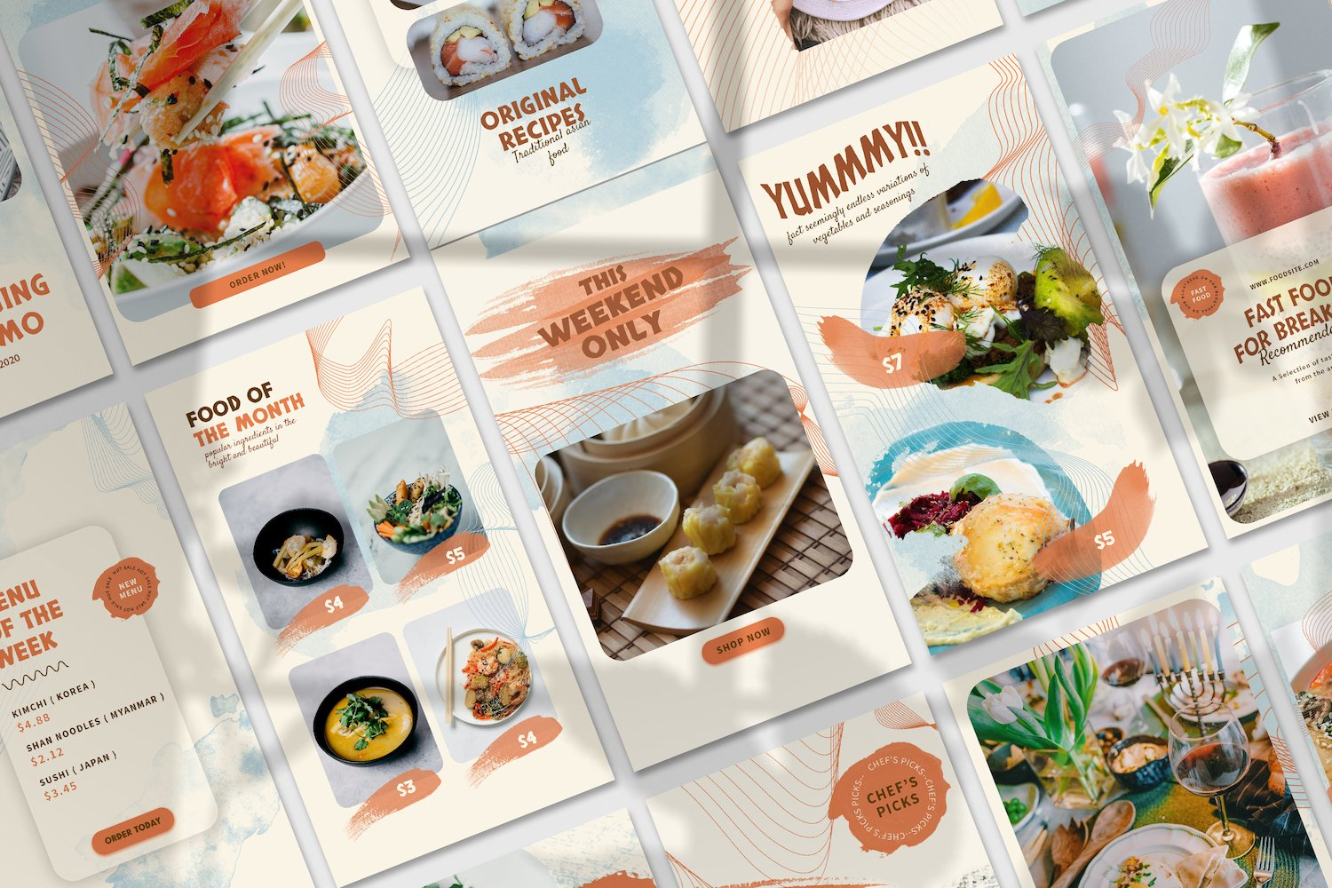 Asian Food Instagram Stories Template example image 3