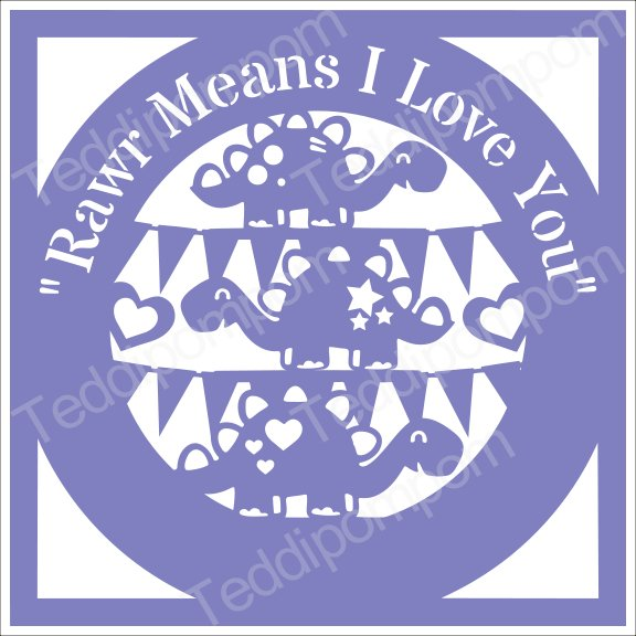 Download Boys SVG, Rawr Means I Love You Papercut SVG Cutting File ...