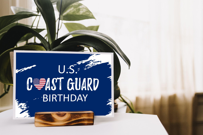 US Coast Guard Birthday svg, USA flag in heart vector example image 2