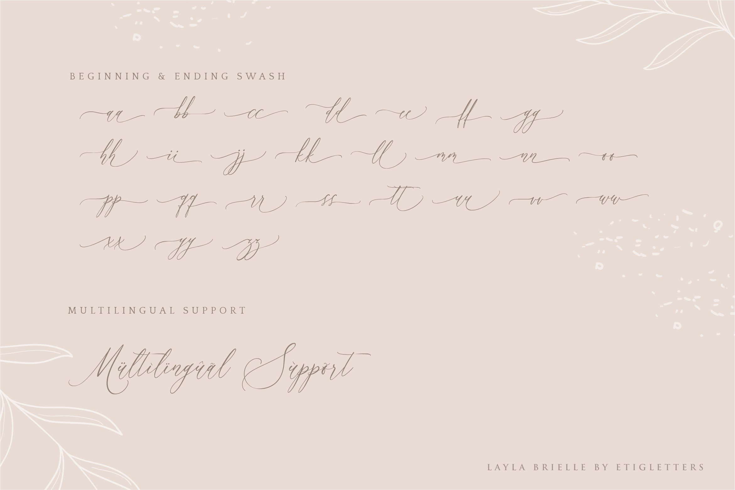 Layla Brielle Calligraphy Font example image 3