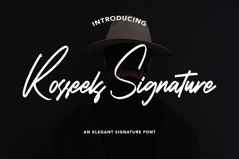 RosseelsSignature - Elegant Signature Font example image 1