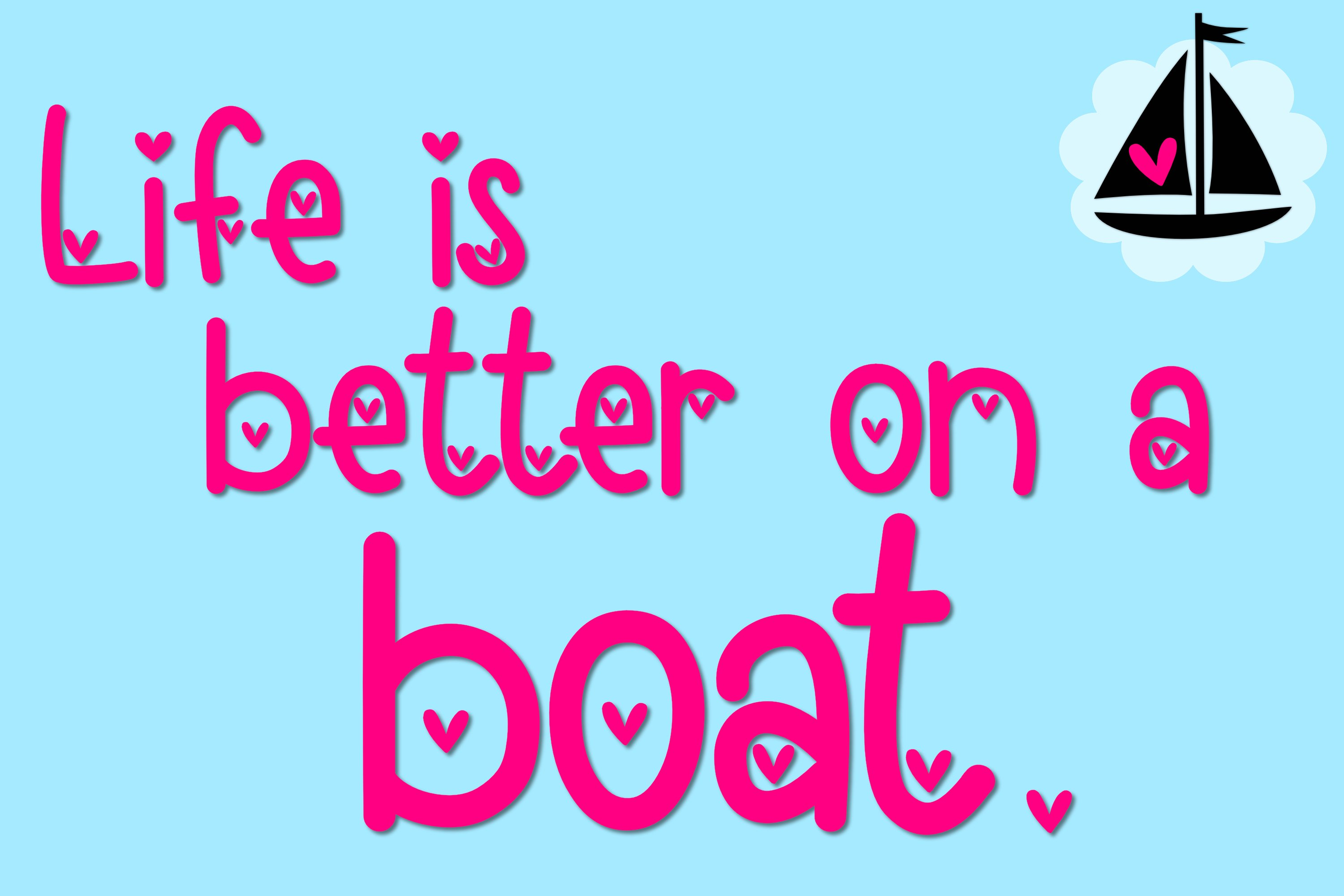 Loveboat - A Cute Font with Hearts example image 4
