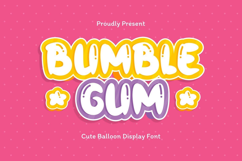 Bumblegum - Cute Balloon Display Font example image 1