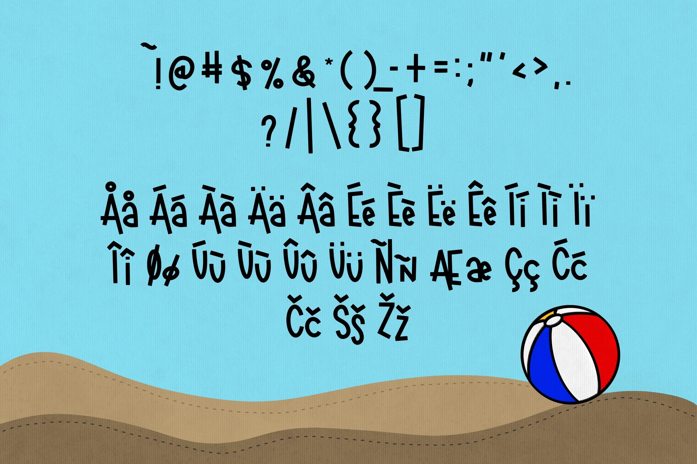 Beachball a Fun Summer Font example image 3