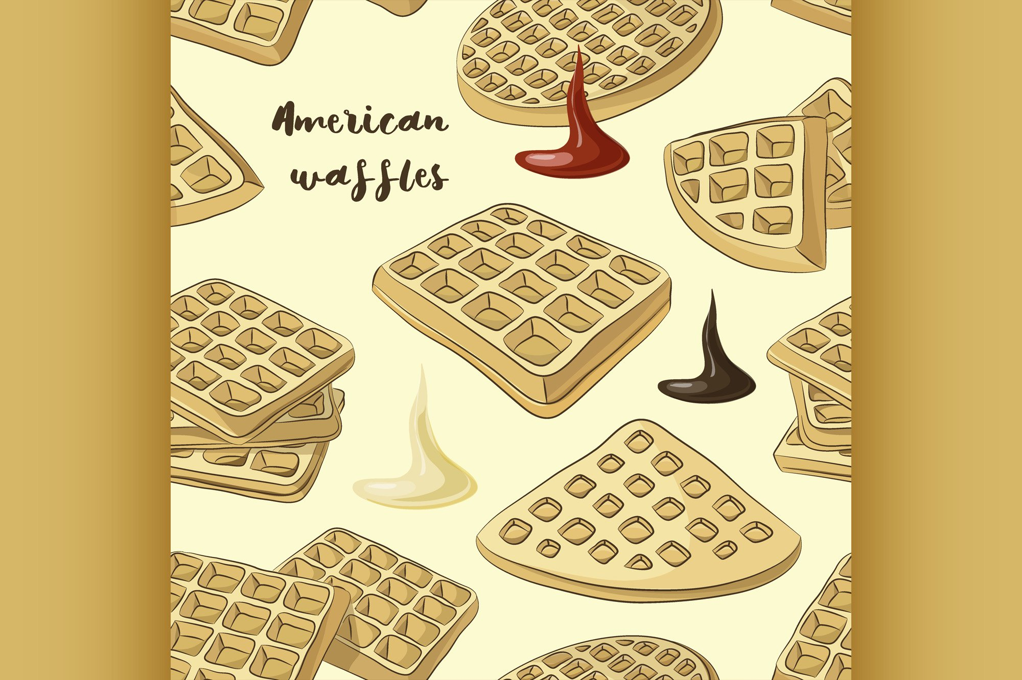 Various American waffles pattern example image 1