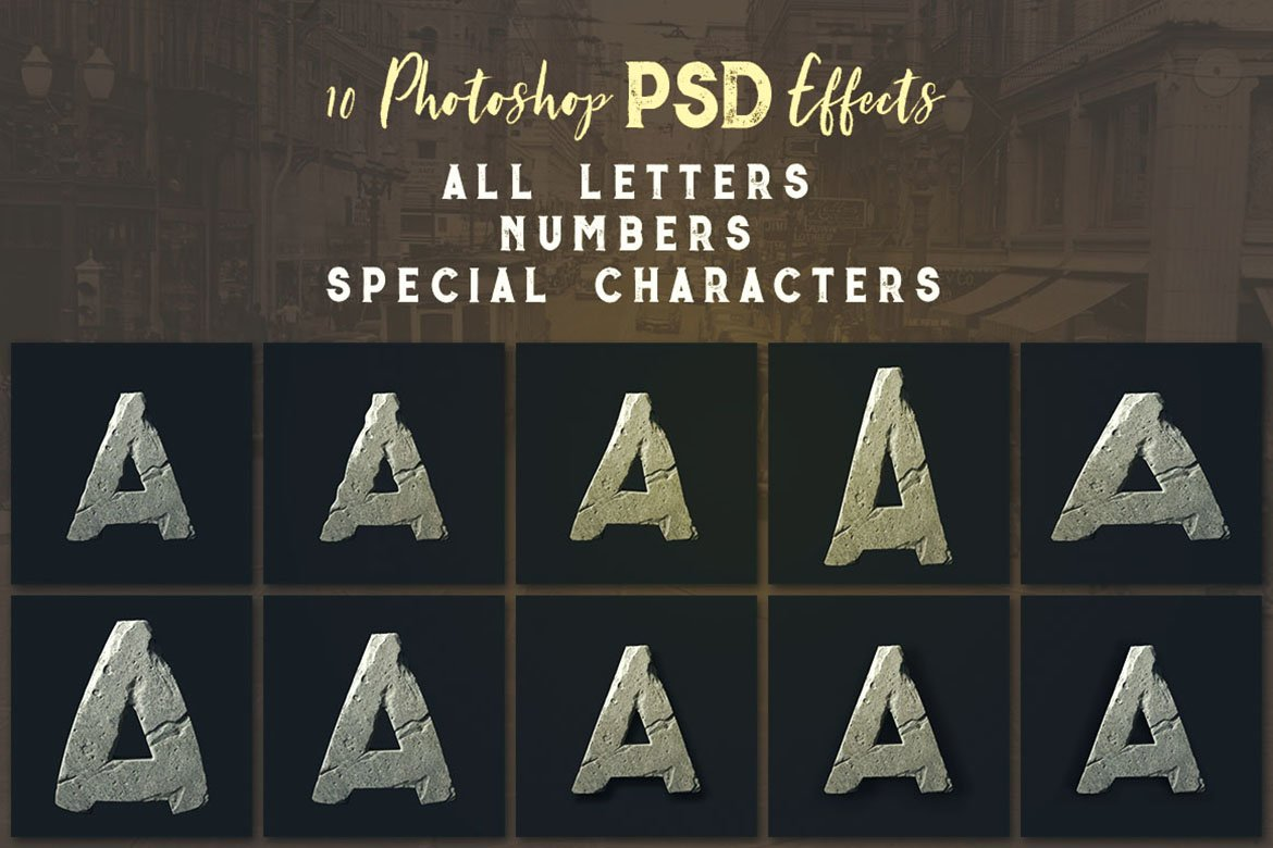 FlintyStone - 3D Lettering example image 5