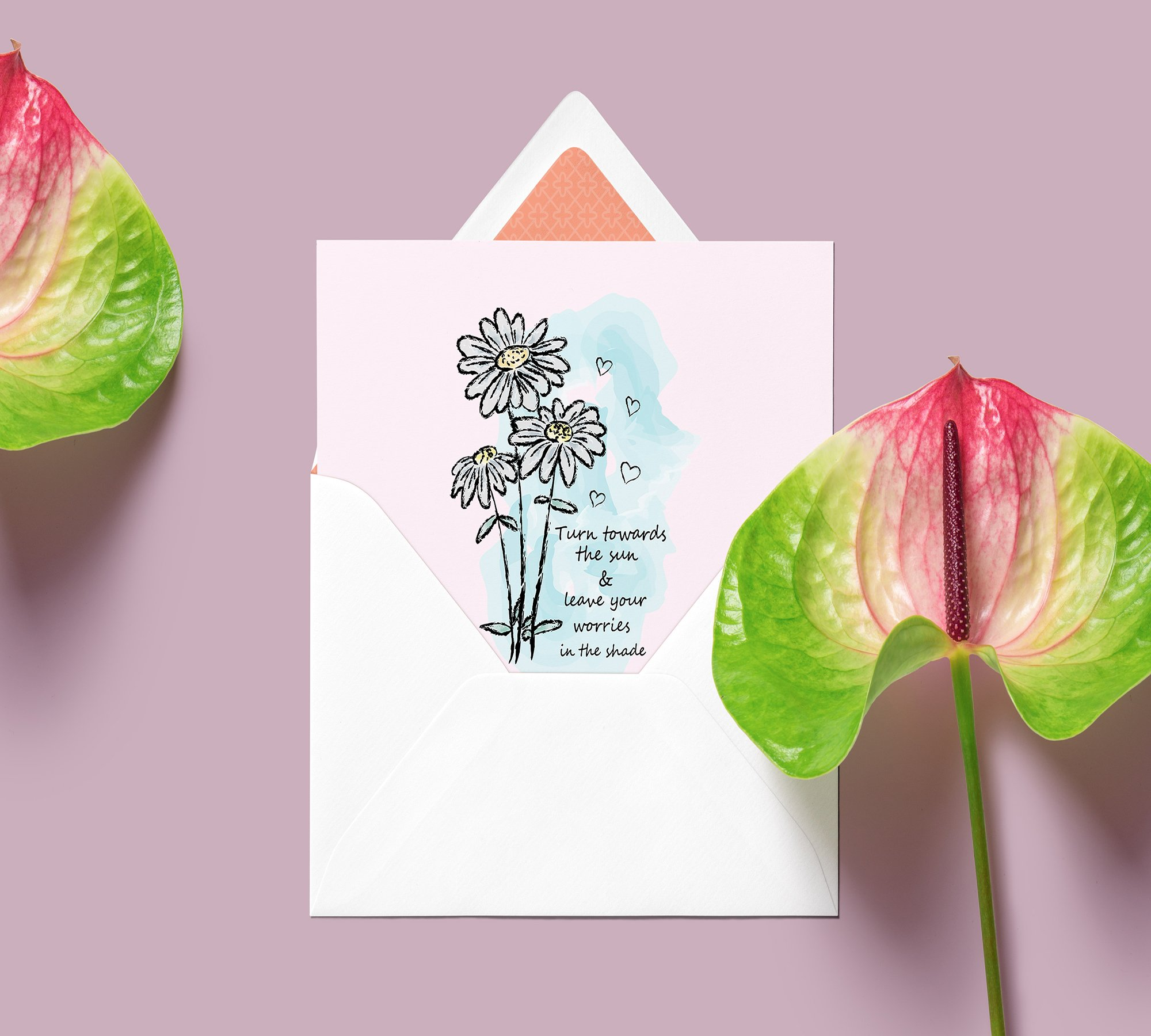Floral Clipart, Watercolor Flowers, Positive Thoughts svg example image 3