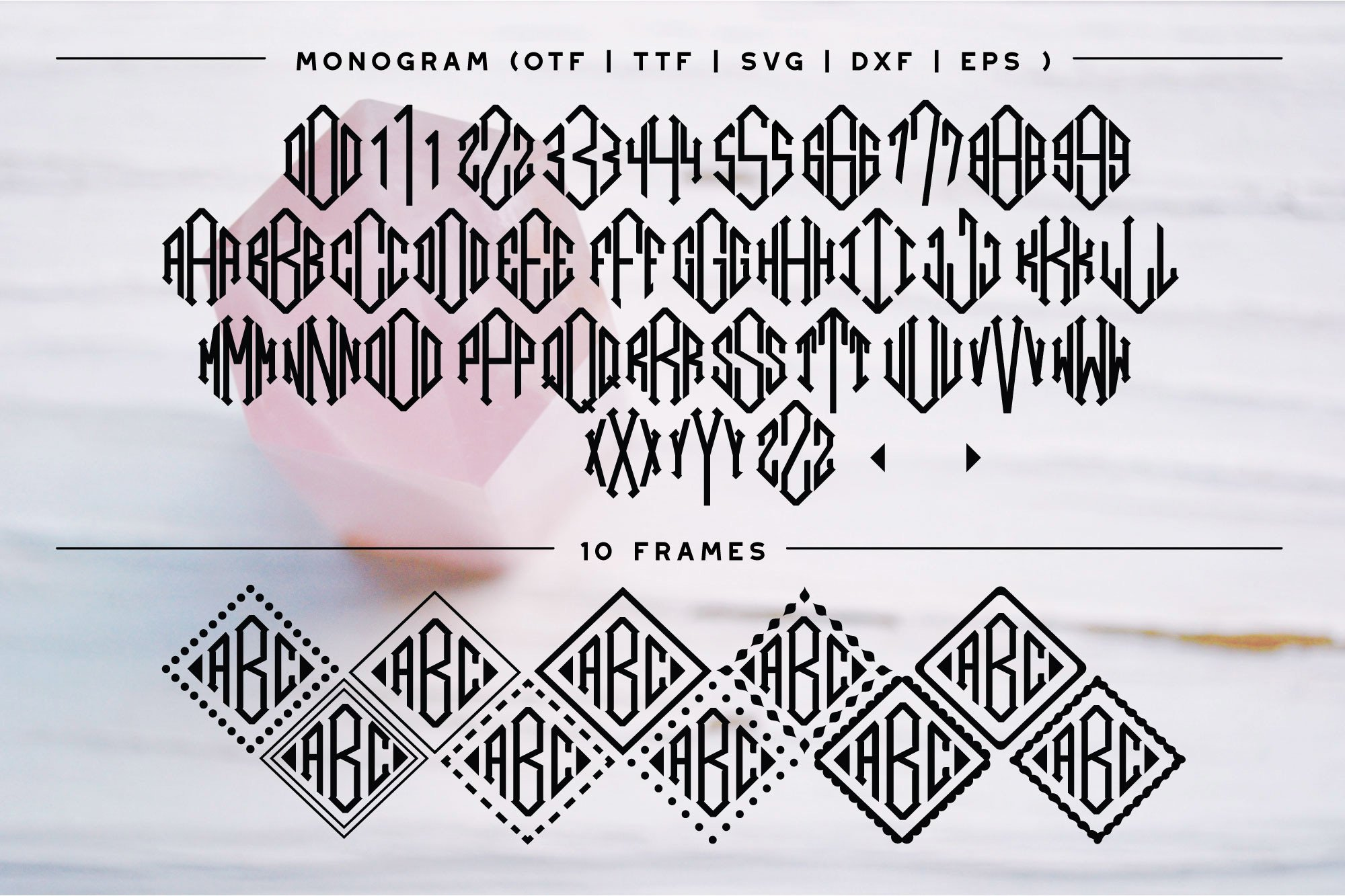 BIG Monogram Font Bundle | The Ultimate Bundle! example image 5