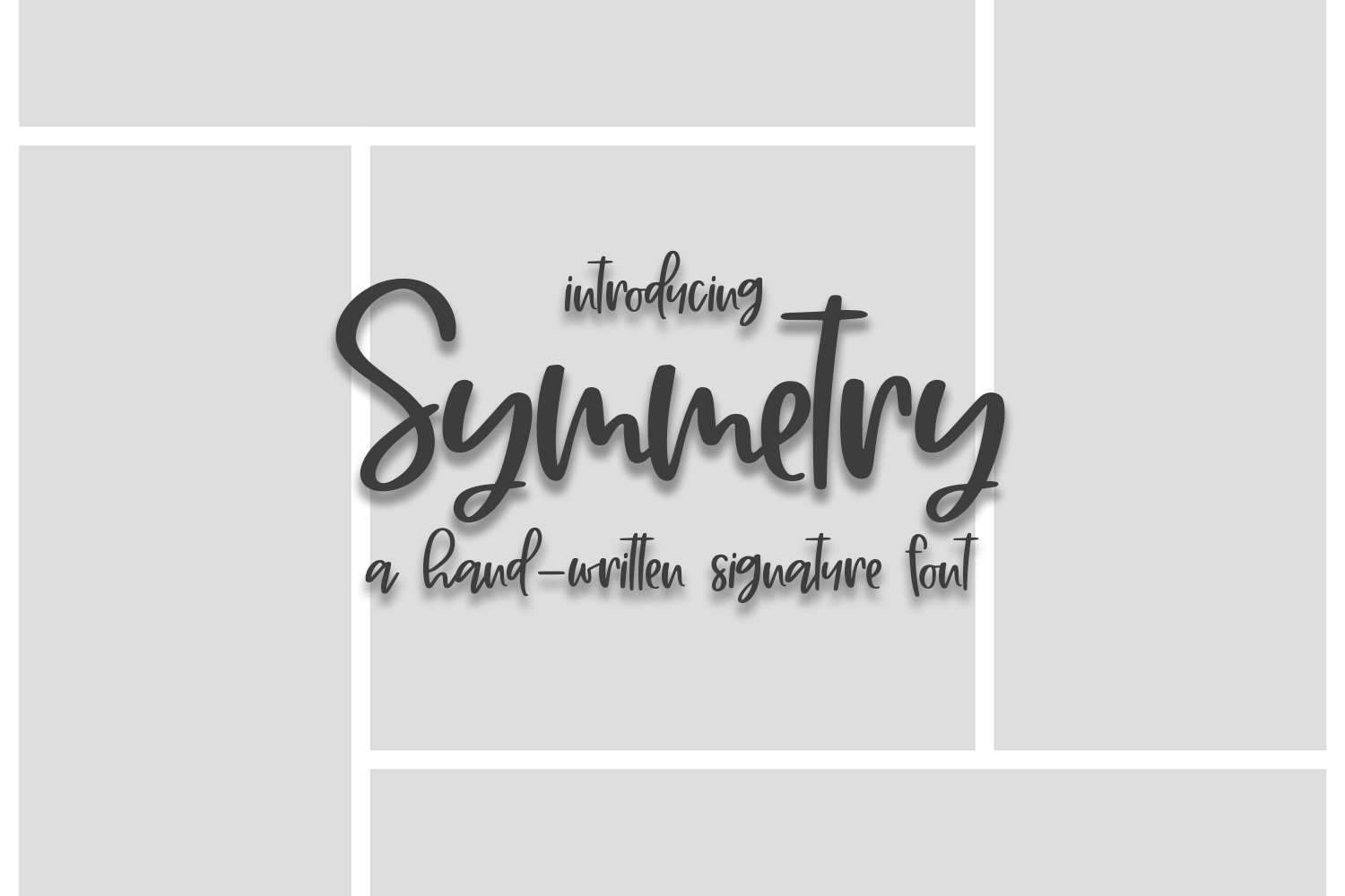 Symmetry - A Hand-Written Signature Font example image 1