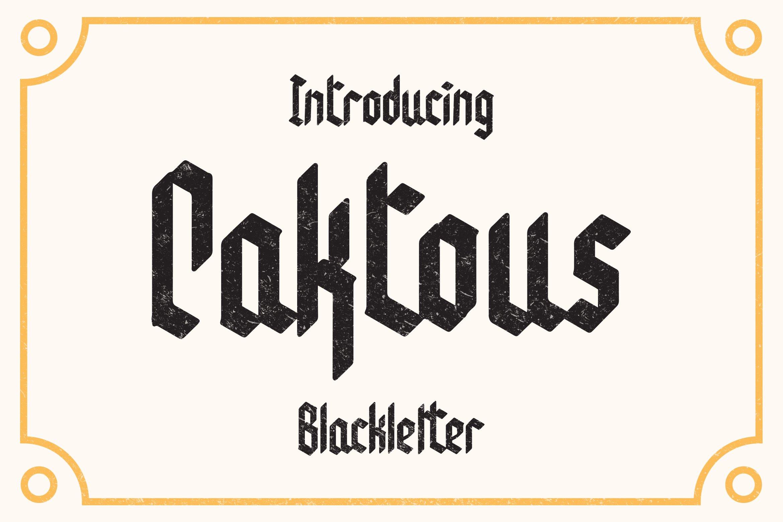 Caktous - Blackletter Font example image 1