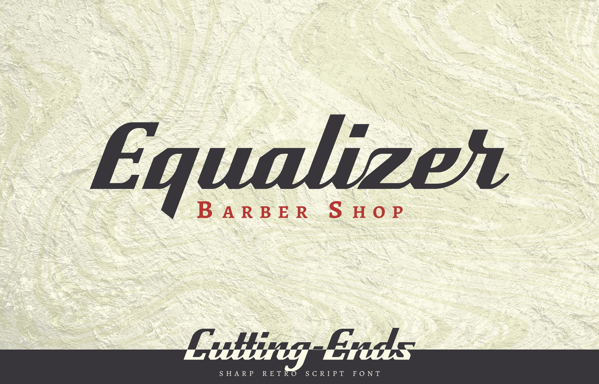 Cutting-Ends | Retro Script Font example image 2