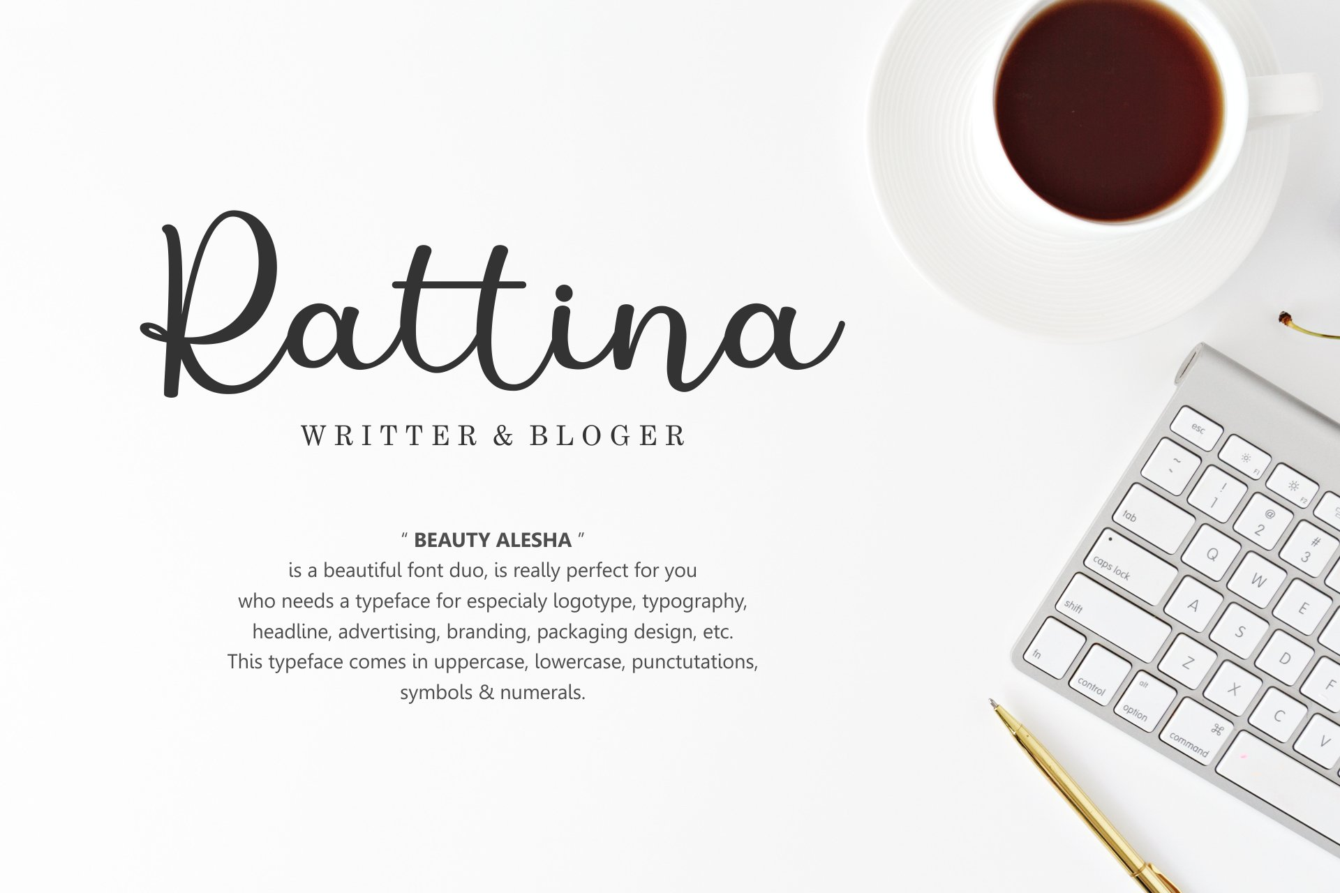 Beauty Alesha Font Duo example image 7