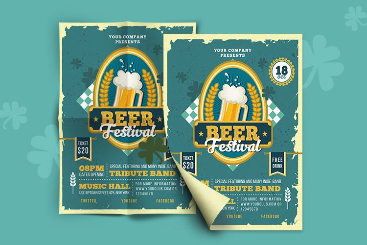 BEER FESTIVAL FLYER OR POSTER example image 2