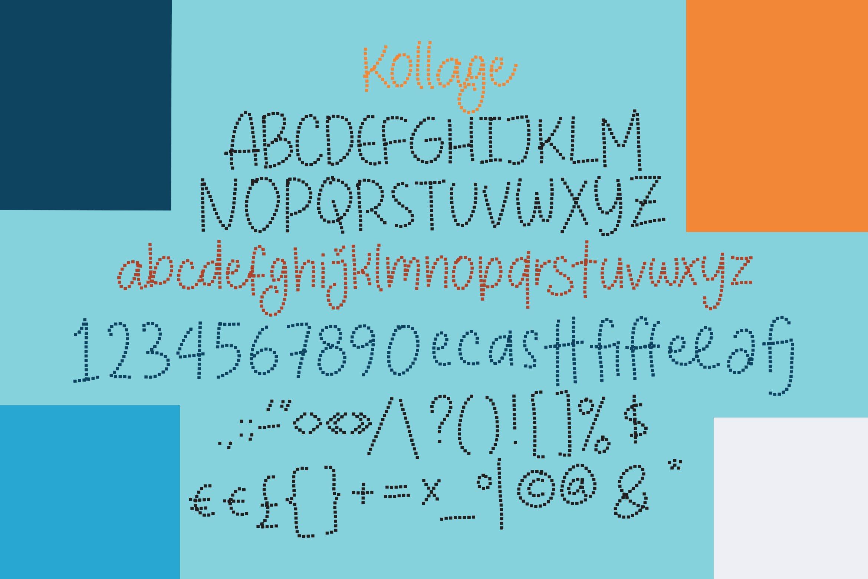 Kollage - Pixel Fonts example image 4