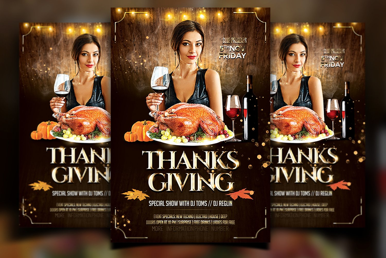 Thanksgiving Flyer 1026620 Flyers Design Bundles