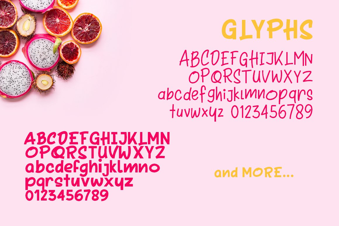 Tooty Fruity - Font Duo example image 2
