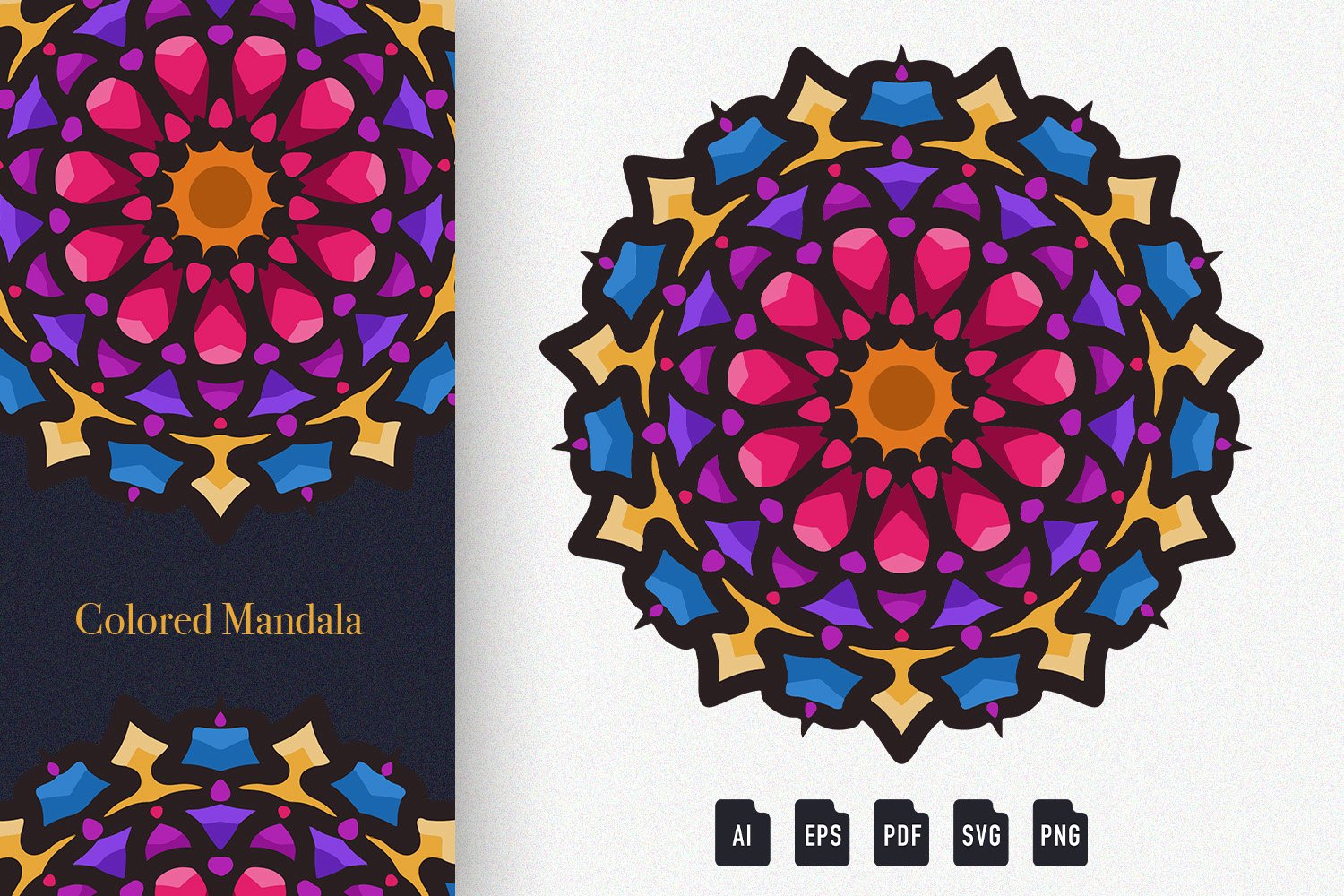 Colored Mandala Art 02 example image 1
