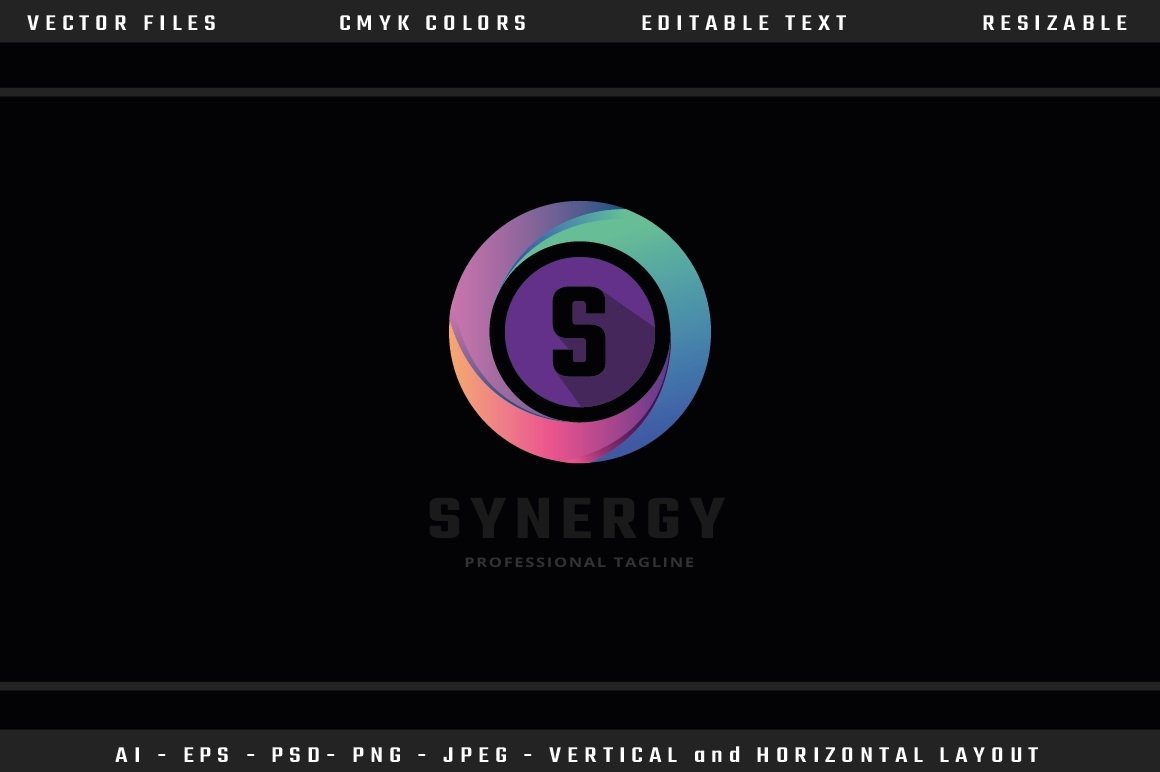 Synergy Letter S Logo example image 3
