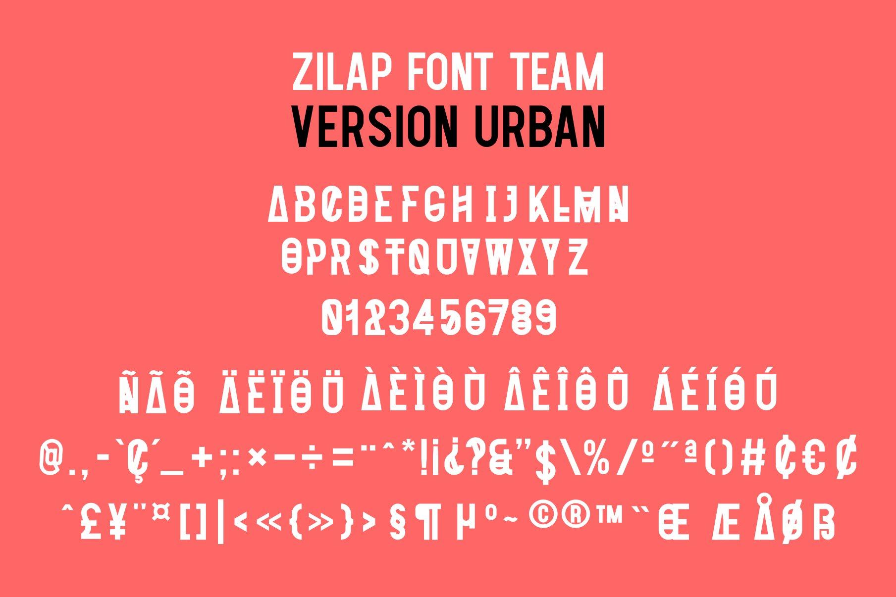 Zilap Font Team Urban example image 2