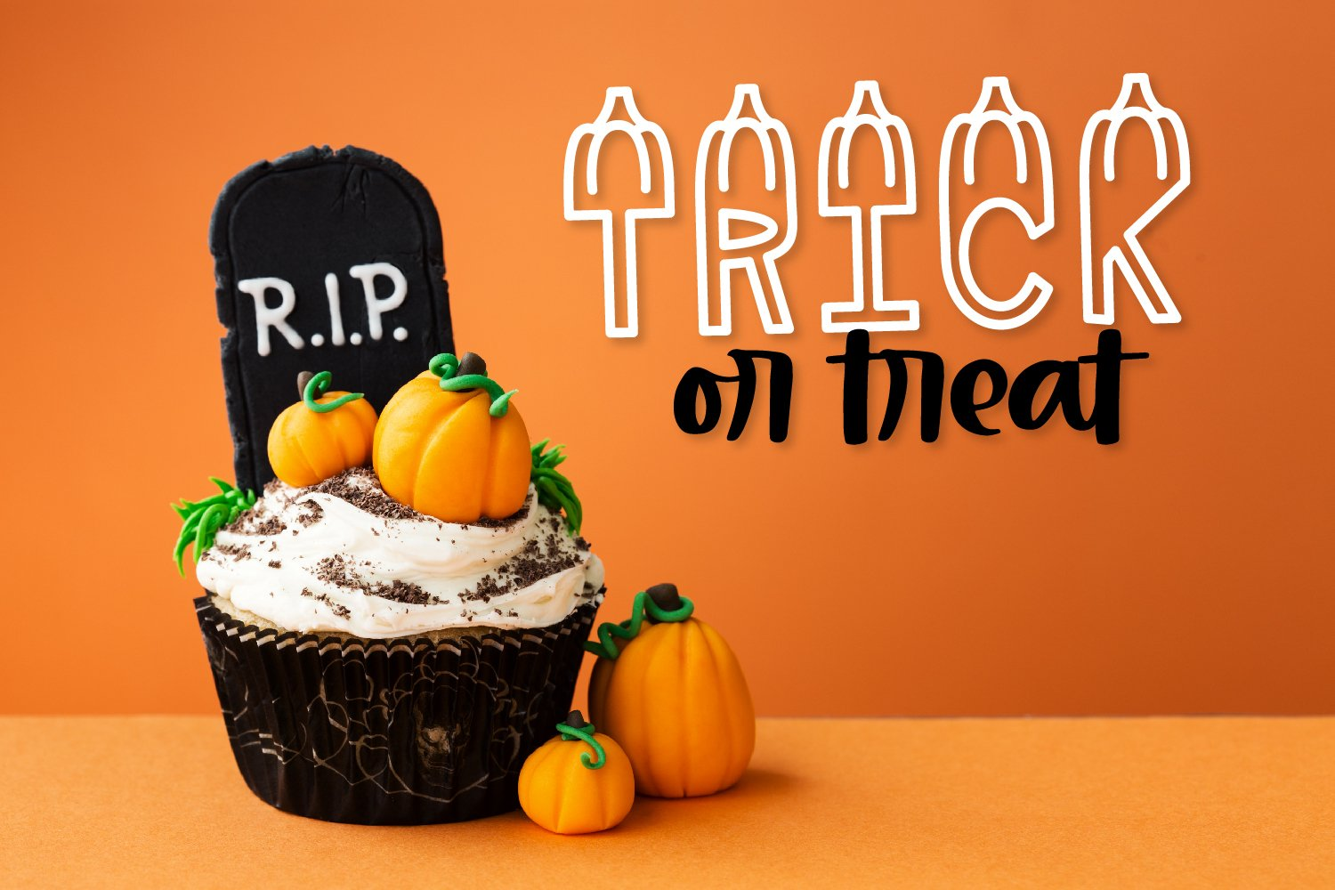 LUMPKINS - A Silly Word Art Halloween Font example image 2