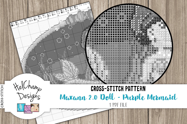 Cross-stitch pattern - Purple Mermaid Maxann 2.0 - CS001 example image 4