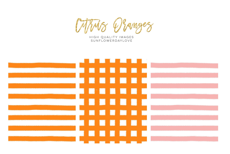 Orange Clip Art, Oranges Clipart, Fruits Floral Border example image 4