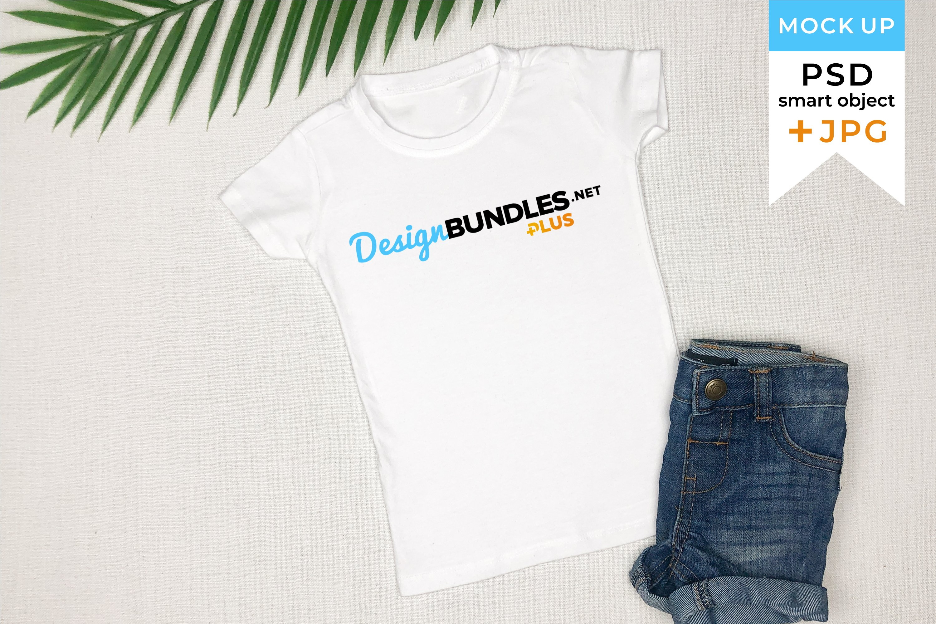 Kids t-shirt mockup in JPG and PSD with smart object example image 1