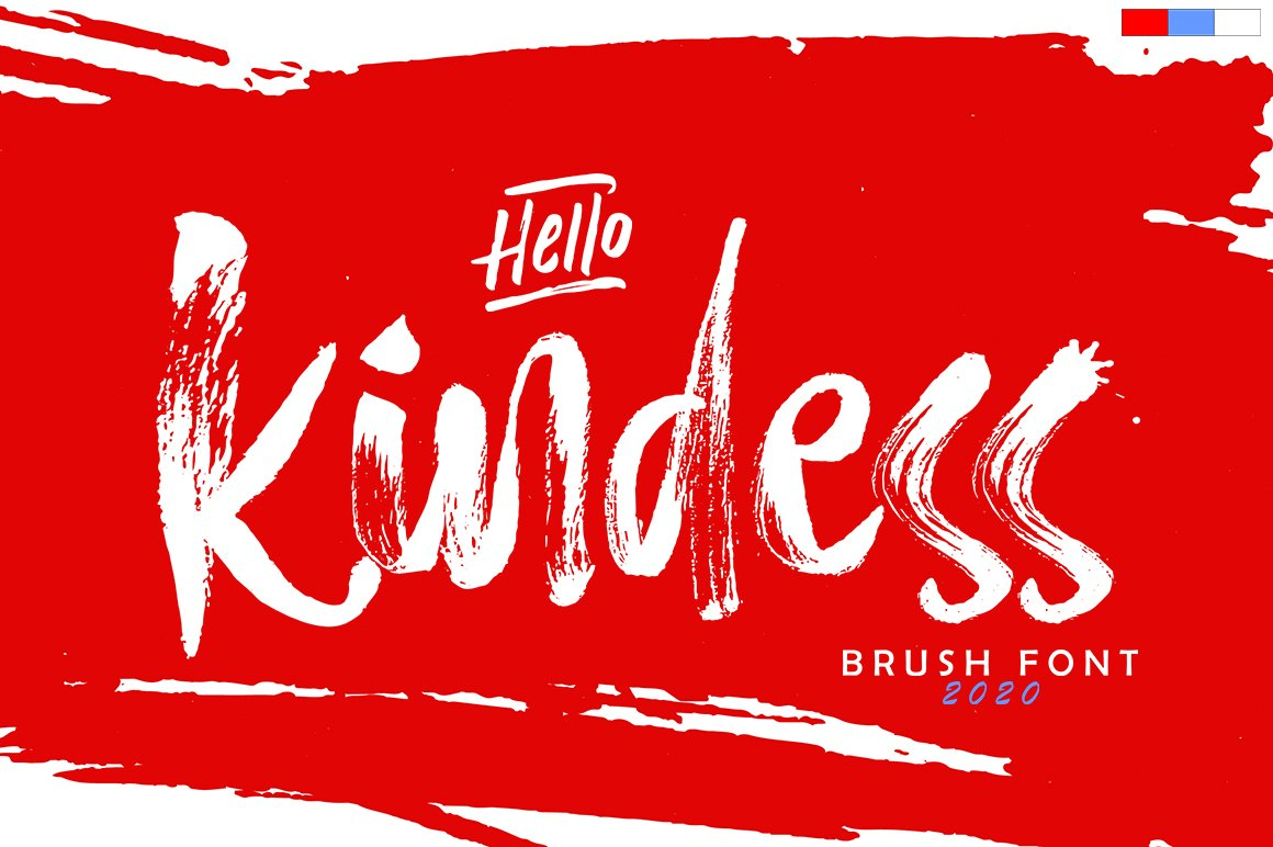 Hello Kindess Brush Font & Extras example image 1