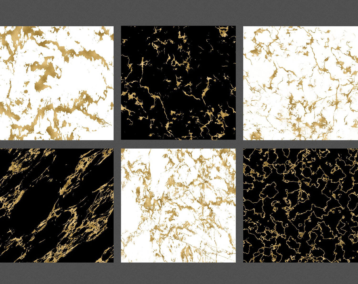 Gold Marble Veins Digital Paper Backgrounds Textures Pattern example image 3