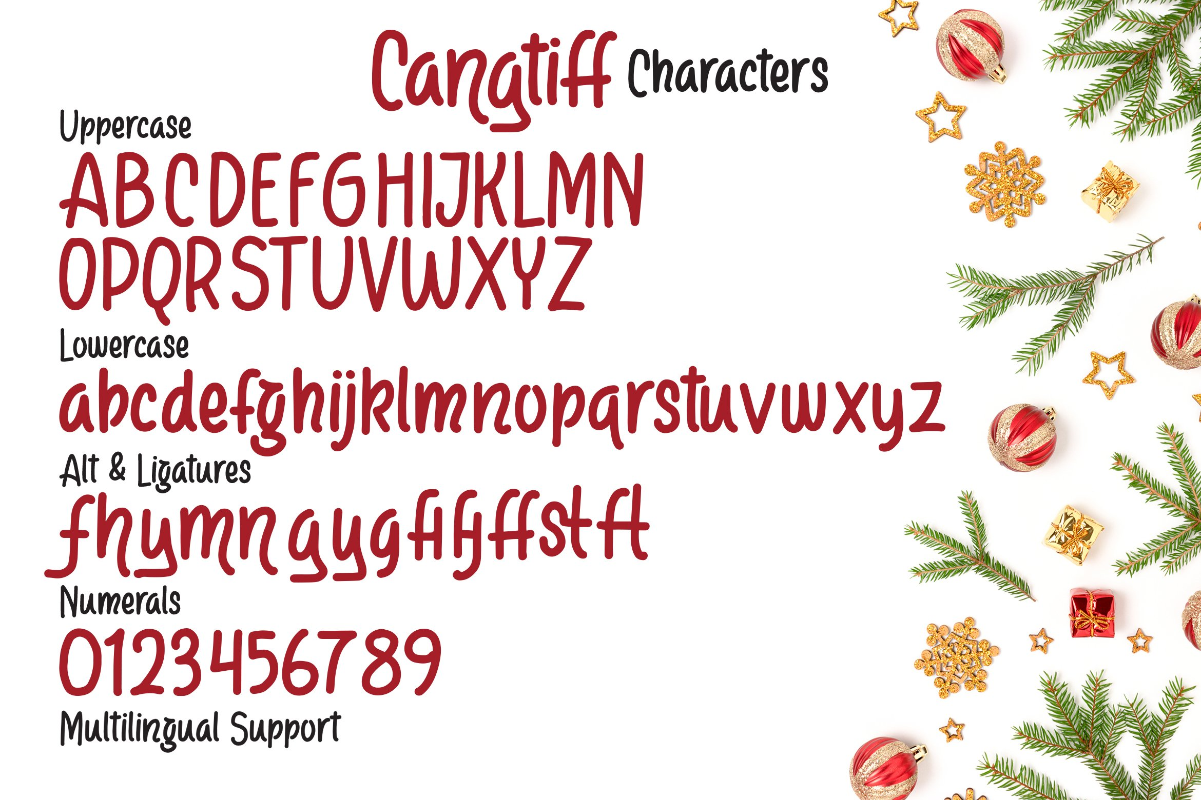 Cangtiff - fancy Chrismas Font example image 3