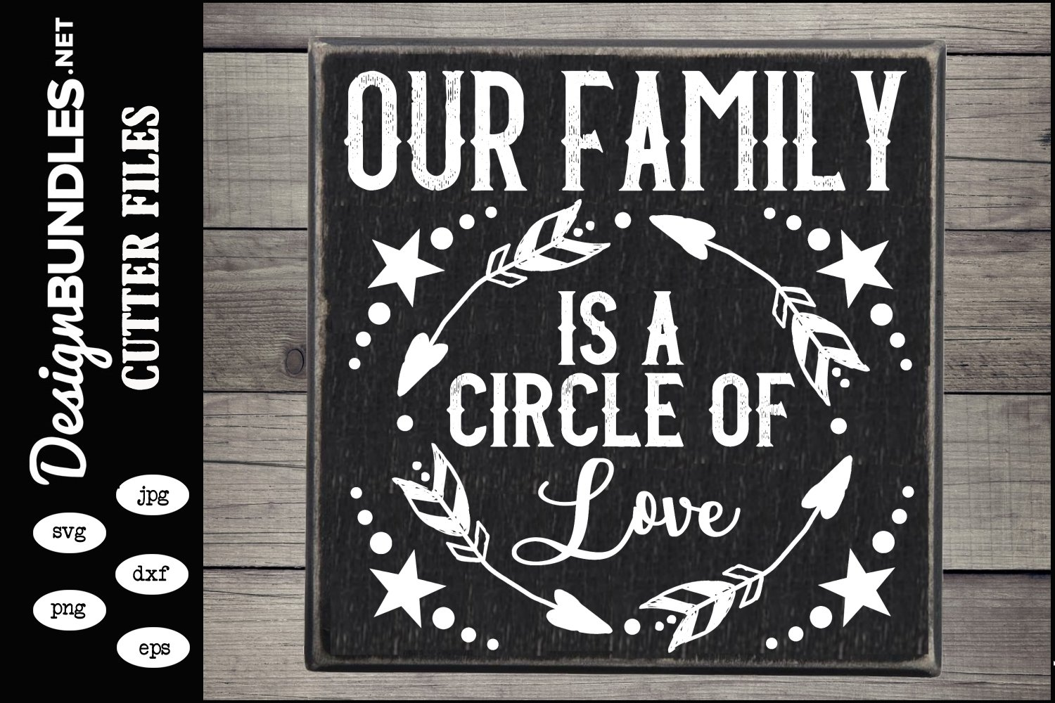 Our Family Circle SVG example image 1