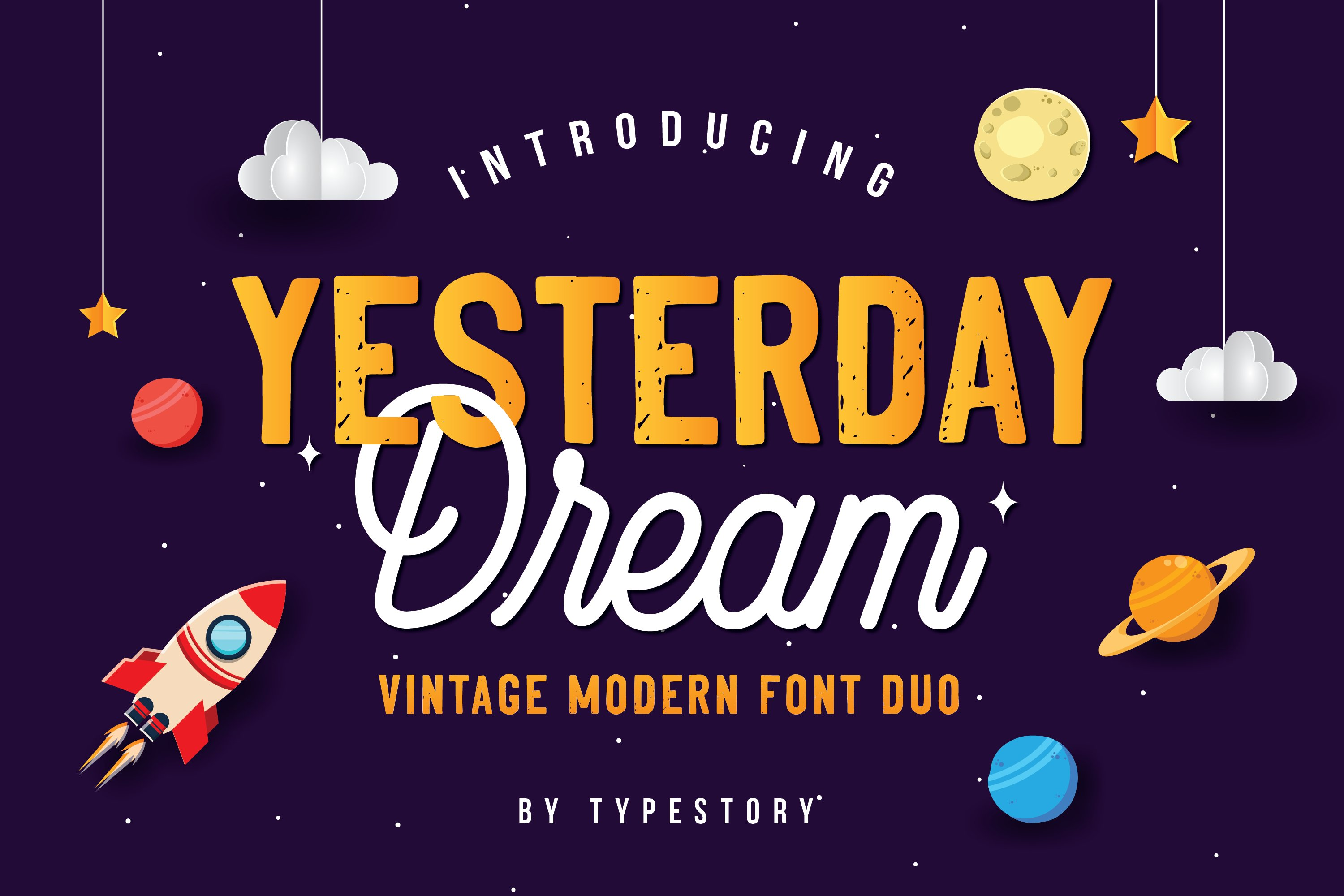 Yesterday Dream Font Duo example image 1