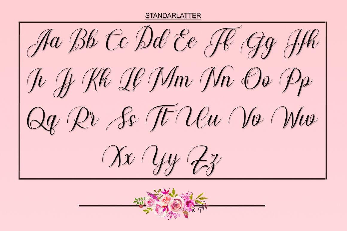New Genta Font Calligraphy example image 4