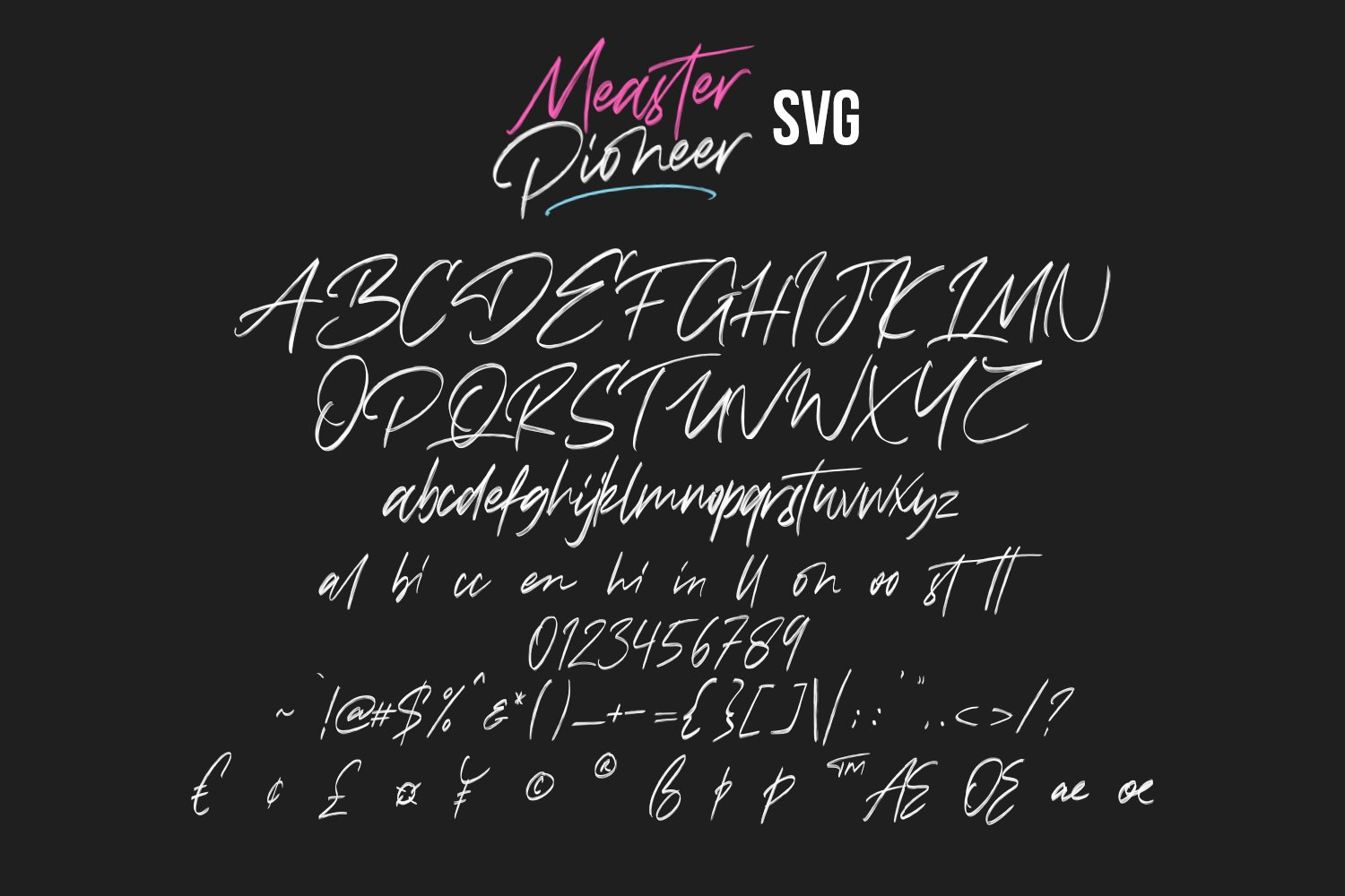 Measter Pioneer SVG Brush Font example image 10