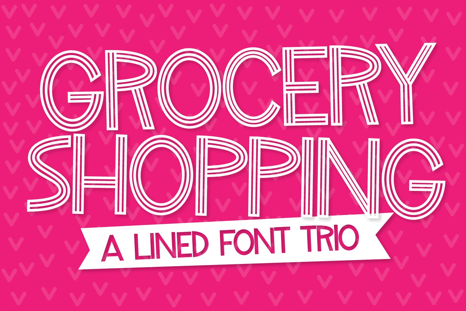 Grocery Shopping - A Lined Font Trio example image 1