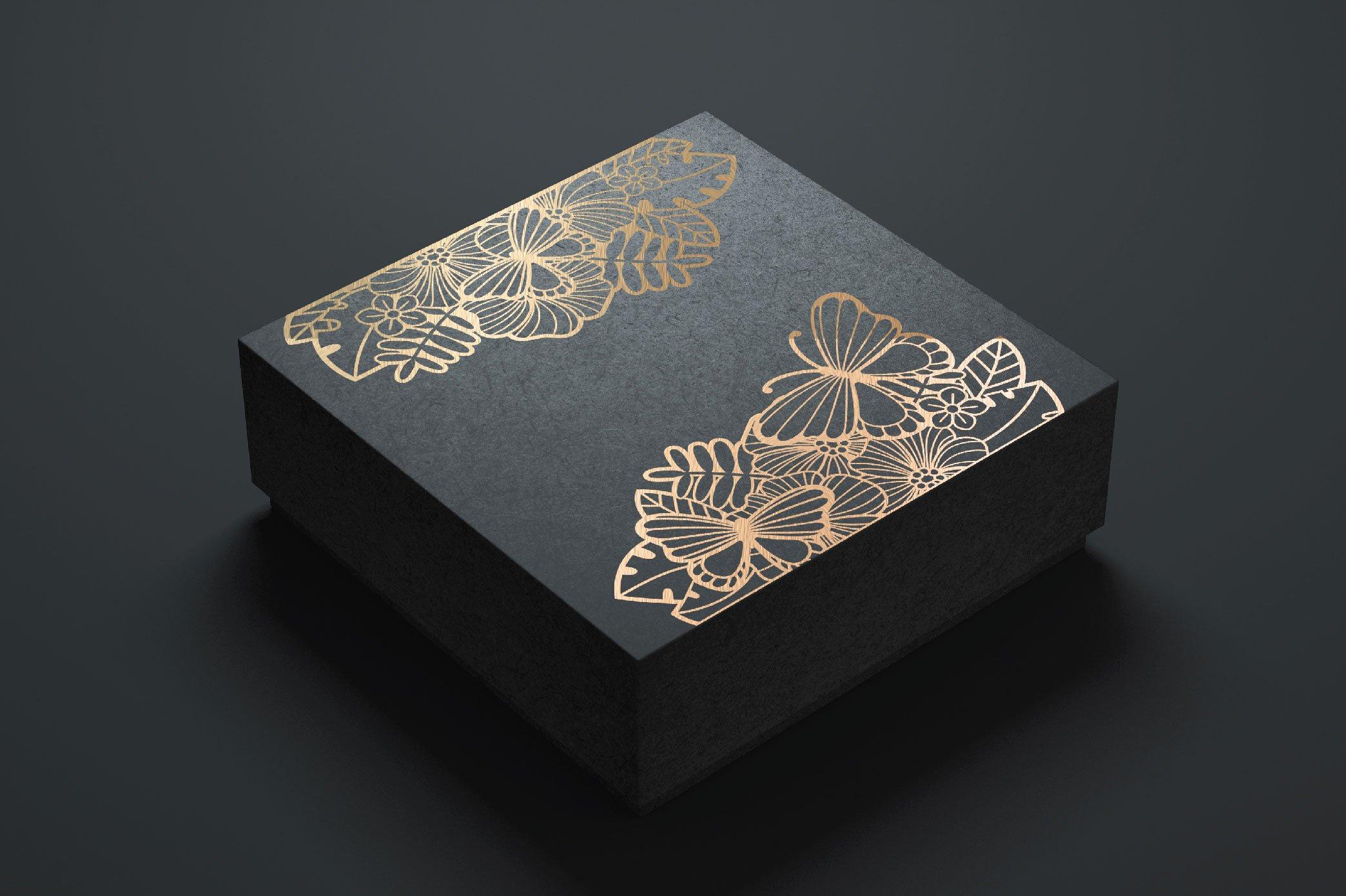 Split Monogram SVG | Floral SVG | Butterfly SVG | Summer SVG example image 8