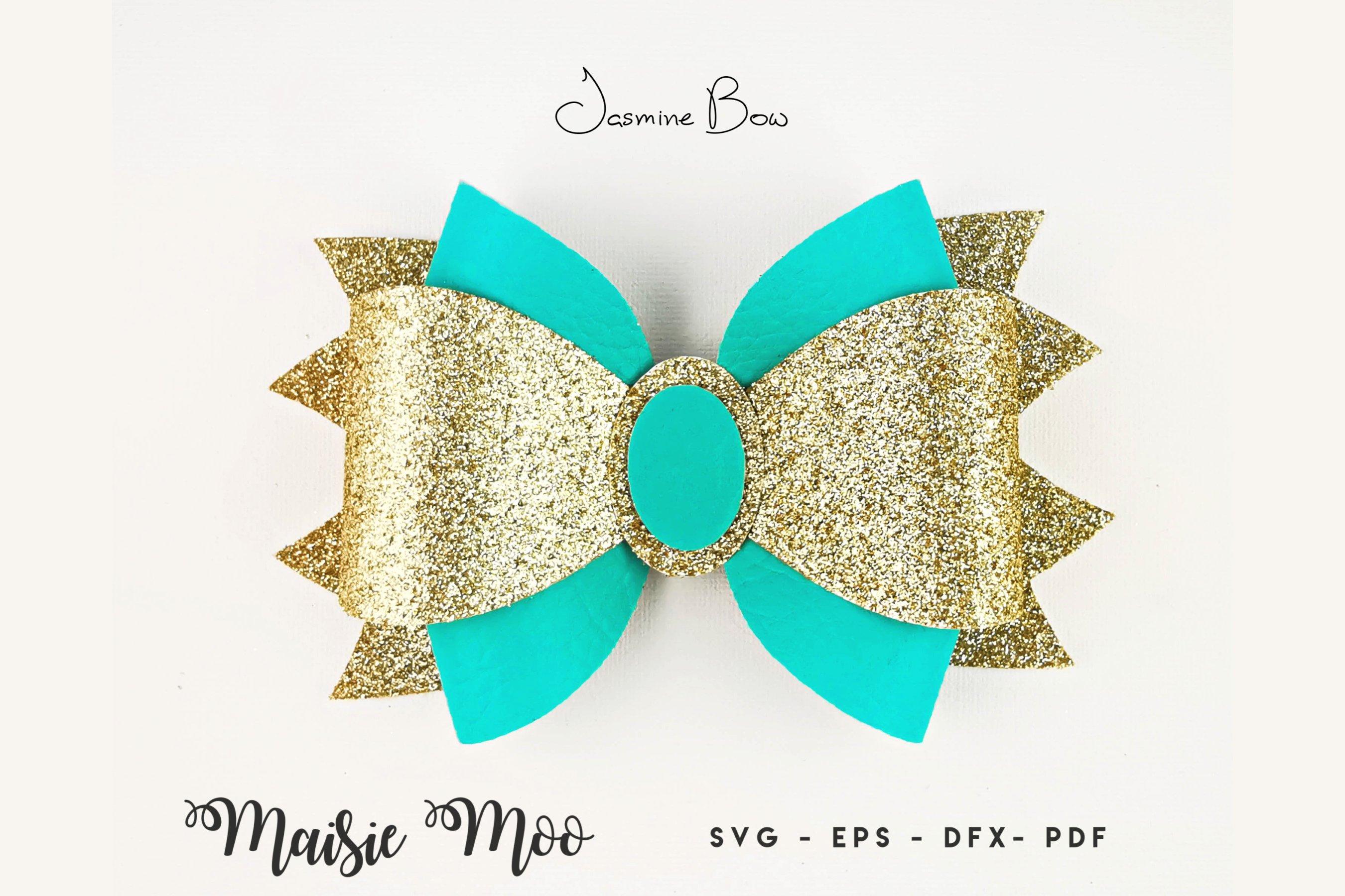 Princess Jasmine Leather Hair Bow!