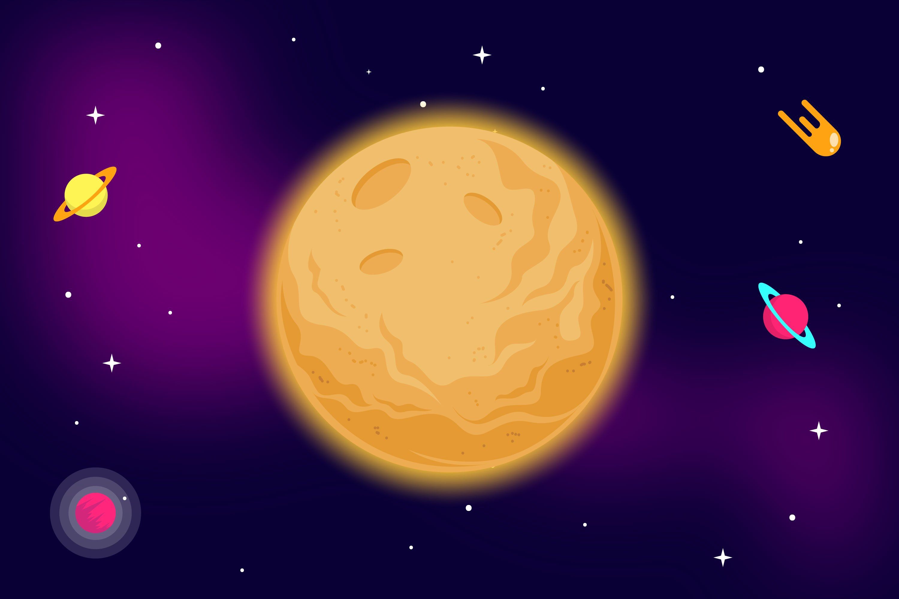 Moon Illustrations example image 1