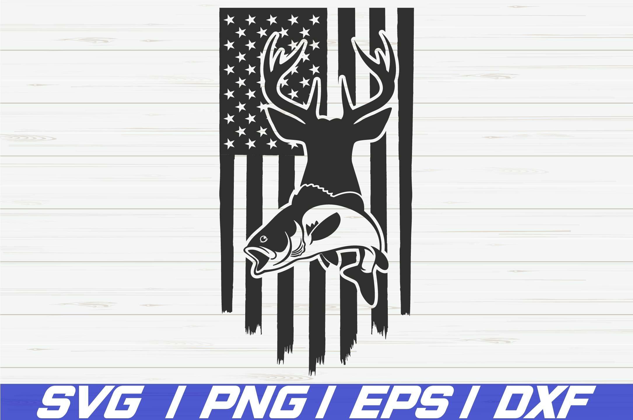 Download Deer Hunt Flag Svg Fishing Usa Flag Svg Cut File 1202957 Cut Files Design Bundles
