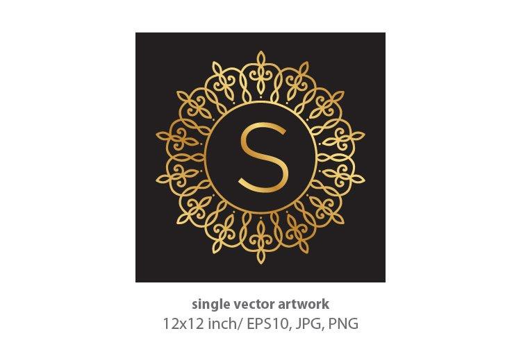 Letter s, inside luxury frame example image 1