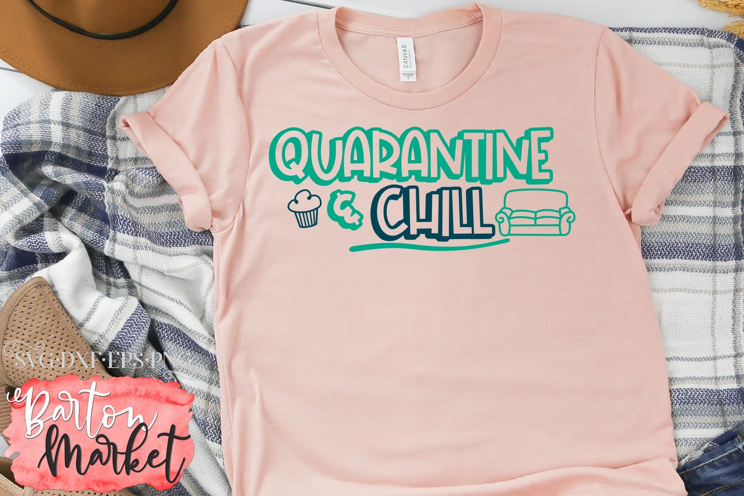 Quarantine & Chill SVG DXF EPS PNG example image 3
