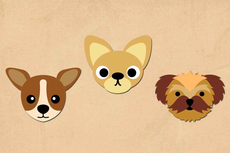 Dog face illustration clip art example image 3