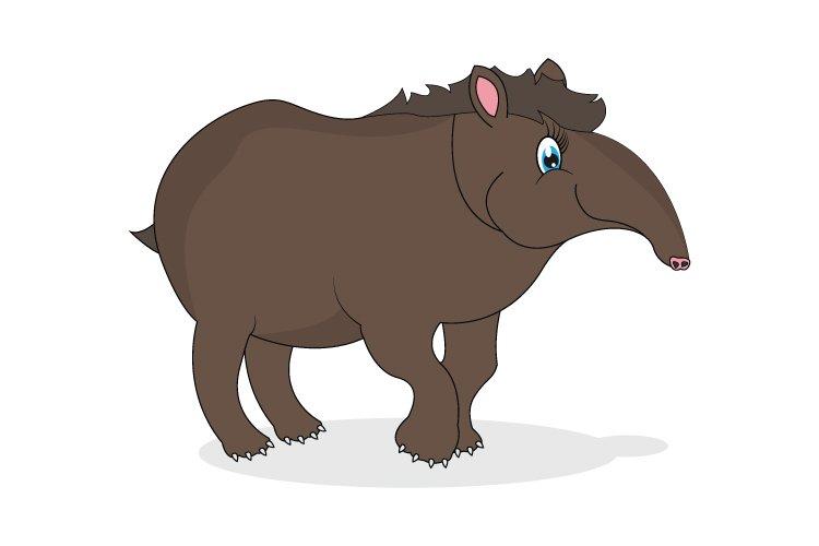 Cute Tapir Cartoon 752989 Illustrations Design Bundles
