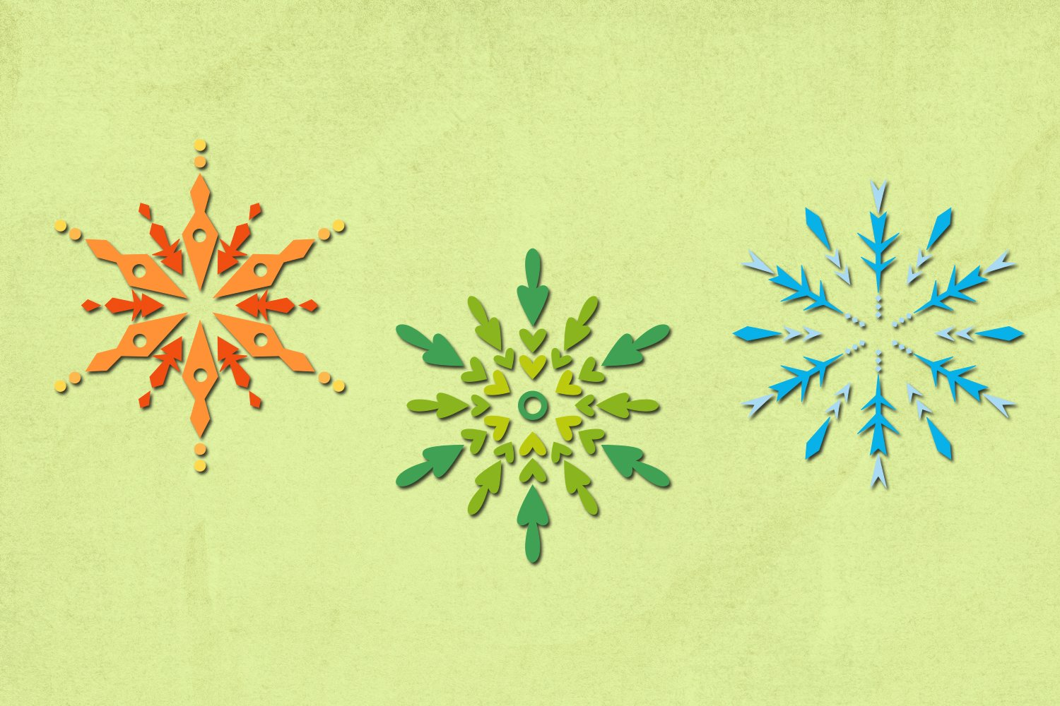 Winter snowflakes illustrations example image 3