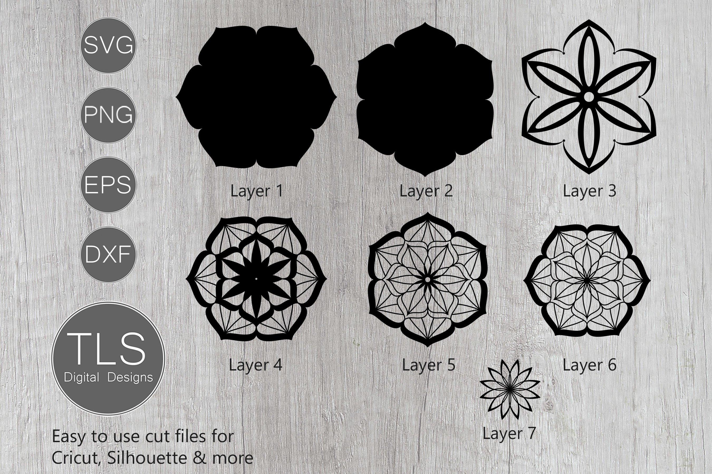 Download 3D Mandala Layered SVG (564009) | Cut Files | Design Bundles