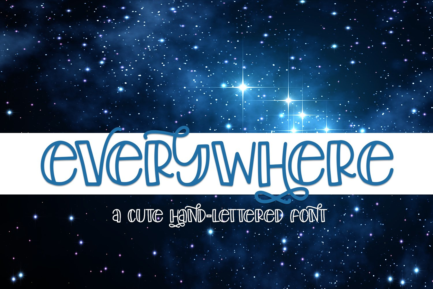 Everywhere - A Cute Hand-Lettered Font example image 1