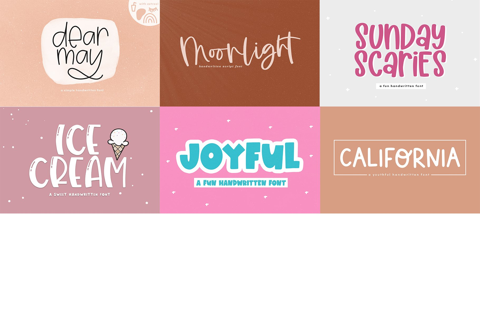 Font Bundle - Handwritten Fonts for Crafters! example image 27